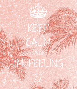 Poster: KEEP CALM CAUSE I'M FEELING 22