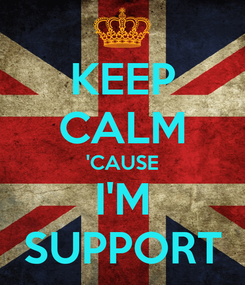 Poster: KEEP CALM 'CAUSE I'M SUPPORT