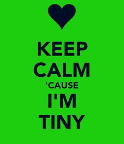 Poster: KEEP CALM 'CAUSE I'M TINY