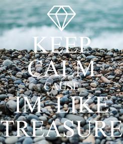 Poster: KEEP CALM CAUSE IM  LIKE TREASURE