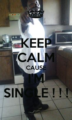 Poster: KEEP CALM CAUSE I'M SINGLE ! ! !