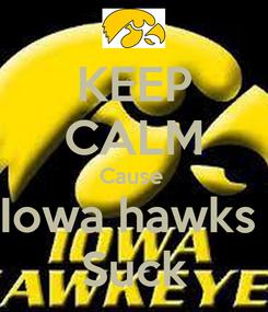 Poster: KEEP CALM Cause  Iowa hawks  Suck