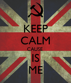 Poster: KEEP CALM CAUSE  IS ME