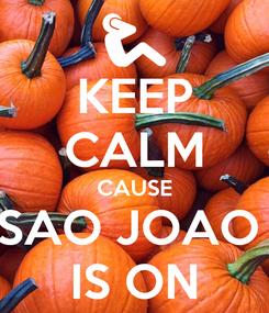 Poster: KEEP CALM CAUSE SAO JOAO  IS ON