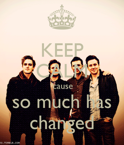Poster: KEEP CALM 'cause so much has changed