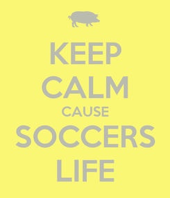 Poster: KEEP CALM CAUSE SOCCERS LIFE