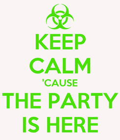 Poster: KEEP CALM 'CAUSE THE PARTY IS HERE