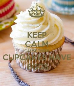 Poster: KEEP CALM CAUSE THESE CUPCAKES HAVE  EGGS