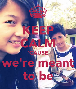 Poster: KEEP CALM 'CAUSE we're meant to be
