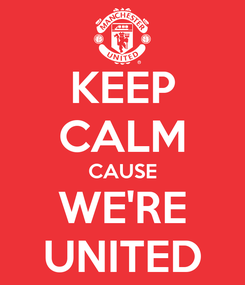 Poster: KEEP CALM CAUSE WE'RE UNITED
