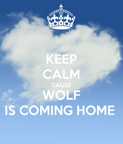 Poster: KEEP CALM CAUSE WOLF IS COMING HOME