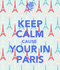 Poster: KEEP CALM CAUSE  YOUR IN PARIS