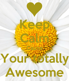 Poster: Keep Calm Cause Your totally Awesome