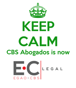 Poster: KEEP CALM CBS Abogados is now