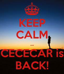 Poster: KEEP CALM ... CECECAR is BACK!