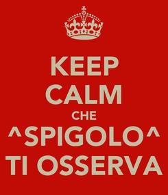 Poster: KEEP CALM CHE ^SPIGOLO^ TI OSSERVA