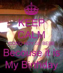 Poster: KEEP CALM COÑO HOY SE BEBE Becouse it is  My Birthday