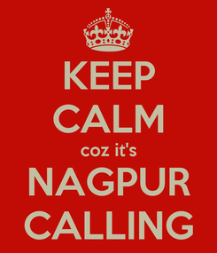 Poster: KEEP CALM coz it's NAGPUR CALLING