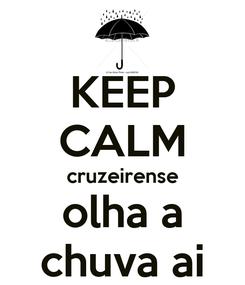 Poster: KEEP CALM cruzeirense olha a chuva ai