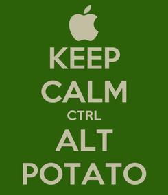 Poster: KEEP CALM CTRL ALT POTATO