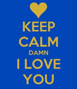 Poster: KEEP CALM DAMN I LOVE YOU