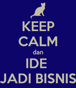 Poster: KEEP CALM dan IDE  JADI BISNIS