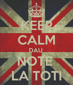 Poster: KEEP CALM DAU  NOTE  LA TOTI