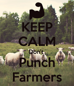 Poster: KEEP CALM Don't  Punch Farmers
