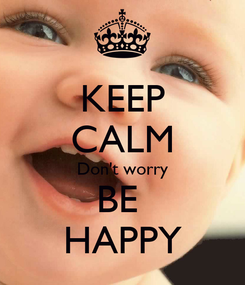 Poster: KEEP CALM Don't worry BE  HAPPY