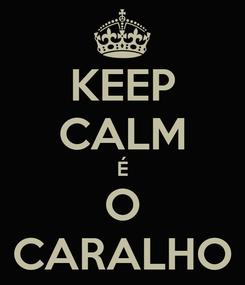 Poster: KEEP CALM É O CARALHO
