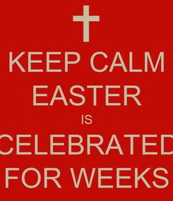 Poster: KEEP CALM EASTER IS CELEBRATED FOR WEEKS