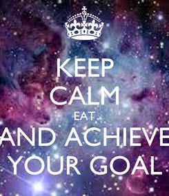 Poster: KEEP CALM EAT AND ACHIEVE YOUR GOAL