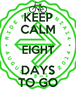 Poster: KEEP CALM EIGHT DAYS TO GO