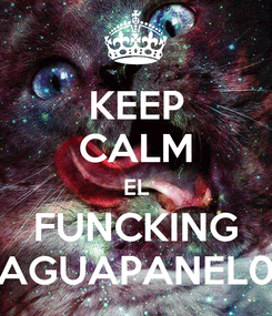 Poster: KEEP CALM EL FUNCKING AGUAPANEL0