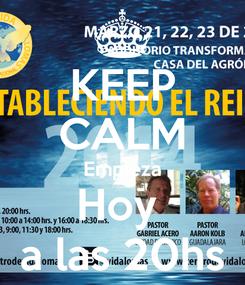 Poster: KEEP CALM Empieza Hoy  a las 20hs