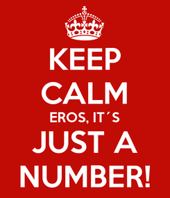 Poster: KEEP CALM EROS, IT´S JUST A NUMBER!