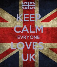 Poster: KEEP CALM EVRYONE LOVES  UK