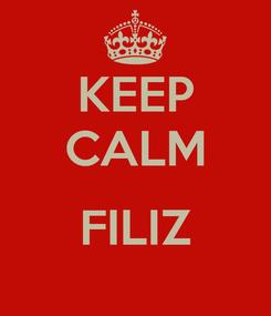 Poster: KEEP CALM  FILIZ