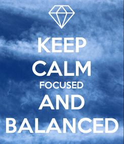 Poster: KEEP CALM FOCUSED AND BALANCED
