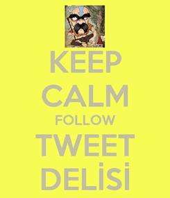 Poster: KEEP CALM FOLLOW TWEET DELİSİ