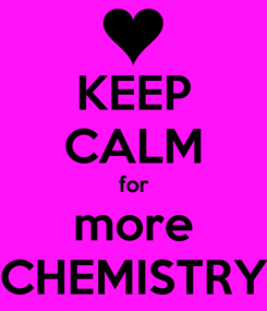 Poster: KEEP CALM for more CHEMISTRY
