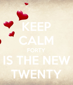 Poster: KEEP CALM FORTY IS THE NEW TWENTY