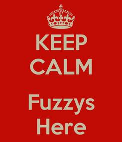 Poster: KEEP CALM  Fuzzys Here