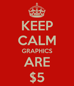 Poster: KEEP CALM GRAPHICS ARE $5
