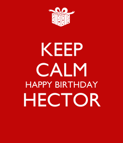 Poster: KEEP CALM HAPPY BIRTHDAY HECTOR
