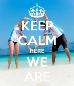 Poster: KEEP CALM HERE WE ARE