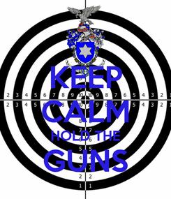 Poster: KEEP CALM HOLD THE GUNS
