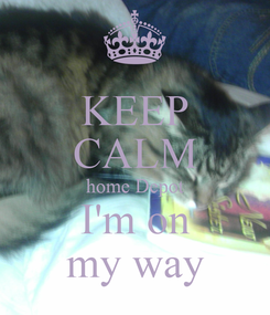 Poster: KEEP CALM home Depot I'm on my way