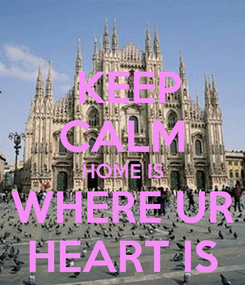Poster:  KEEP CALM HOME IS WHERE UR HEART IS