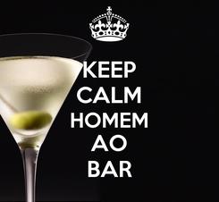 Poster: KEEP CALM HOMEM AO BAR